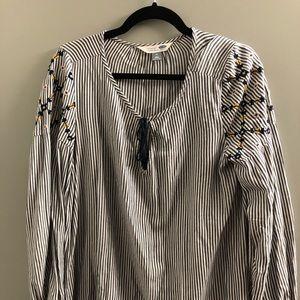 Striped tunic blouse
